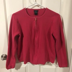 Cute AT Factory zip front sweater.